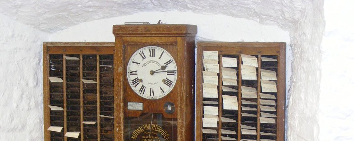 employee time clocks through history