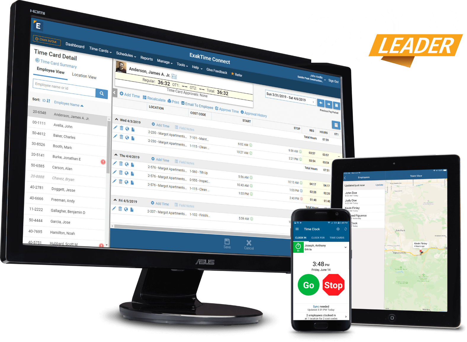 Time clock app and employee gps tracking software